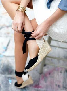 Adoring these spring-ready espadrille wedges!