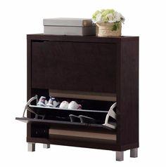 Simms 2-Drawer 12 Pair Modern Shoe Cabinet