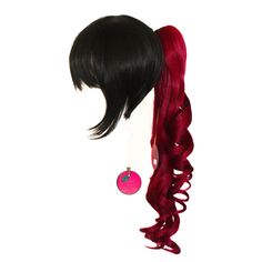 18/'/' Ringlet Curly Pony Tail Clip Burgundy Red Cosplay Lolita Wig Clip Only NEW