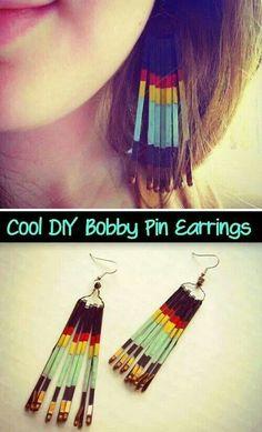 Diy bobby pin earring