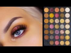 Morphe 35F Fall Into Frost Palette - Swatches & Makeup Look - YouTube