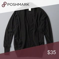NWT ABERCROMBIE & FITCH BLACK CARDIGAN MED/LG NWT ABERCROMBIE & FITCH BLACK CARDIGAN MED/LG- item is brand new in packaging, with tags attached too. Tags read 48$- great deal! NO TRADES, no holds, discounts on all bundles! Abercrombie & Fitch Sweaters Cardigans