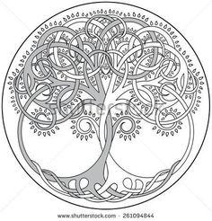Irish Tattoo Designs - Tree of Life Design - body art Celtic Symbols, Celtic Art, Celtic Knots, Mayan Symbols, Egyptian Symbols, Ancient Symbols, Mandala Tattoo, Mandala Art, Tatoo Sakura