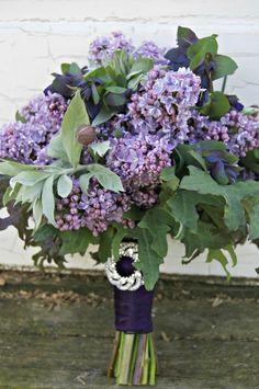 May Seasonal Bouquet of purple lilacs