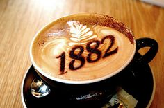Numbers 1882 Coffee Art Design // Creative 3D Coffee Latte Art Pictures, Images & Designs