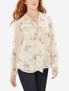 Floral Bow Blouse from THELIMITED.com