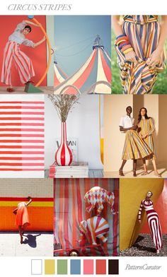 CIRCUS STRIPES by PatternCurator SS19 #FashionTrends2018