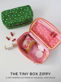 The Tiny Box Zippy - A PDF Sewing Pattern!