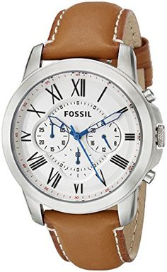 Fossil Men's FS5060 Grant Stainless Steel Watch with Brown Leather Band $115.00 Buy at http://loftymart.com/fossil-mens-fs5060-grant-stainless-steel-watch-with-brown-leather-band-115-00/