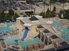 View of the Luxor pool from our room