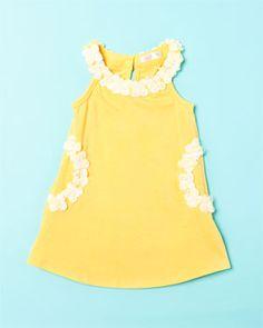 Baby Sara 'Awesome Blossom' Yellow Dress