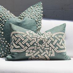 Bandhini Homewear Design Celtic Cross Celadon Throw Pillow #laylagrayce