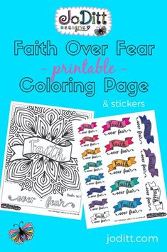 Faith Over Fear Printable Coloring Page Bible Verse Coloring Page, Adult Coloring Pages, Coloring Sheets, Scripture Memorization, Bible Verses, Bible Art, Scriptures About Fear, Spirit Of Fear, Free Bible Study