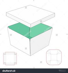 Tapered Tray With Lid And Blueprint Template Stock Vector Illustration 300314195 : Shutterstock