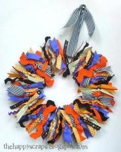 DIY Halloween : DIY Halloween Ribbon Wreath