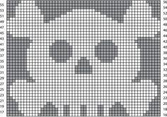 Crochet Skull - Chart ❥ 4U // hf