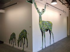 Fina renar!  Deer at the Google Office by Ian Ross