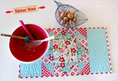 Patchwork Table Runner with Straight Line Quilting | Sew4Home