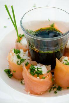 Botana de Sushi de Salmón