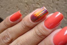Um blog sobre esmaltes e cosméticos em geral. Nail Foil, Peach, Orange, Blog, Beauty, Foil Nails, General Goods, Nailed It, Enamels