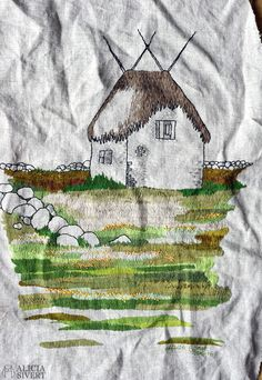 Lambgiftet (WIP) free hand embroidery by Alicia Sivertsson 2016.