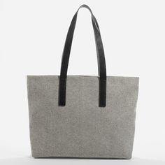 The Twill Tote - Reverse Denim with Black Leather – Everlane