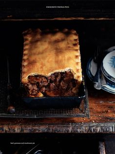 Beef, Guinness and mushroom pie by Donna Hay... delicious!