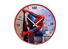 SPIDERMAN OROLOGIO MURO PARETE  Orologio a muro Spiderman con rifiniture rosse regolabile da dietro, funziona con una batteria di tipo AA non inclusa