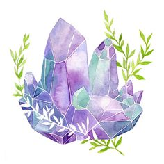 Monday watercolor warm up Next on todo list - coffee. #art #watercolor #illustration #gem #floral