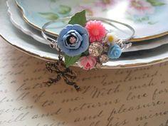 French Gardensvintage enamel flower and by originalnoell on Etsy, $42.00