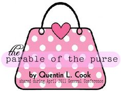 The parable of the purse-great theme idea & play the what's in ur purse game
