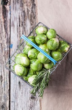 Food basket of brussels sprouts by Natasha Breen on Creative Market