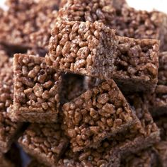 These chocolate rice crispy treats are a childhood favorite.