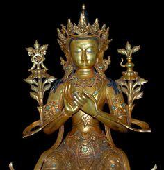 20th century bronze gold gilt seated Maitreya Buddha - Rendition artifacts - Jewel of the Lotus