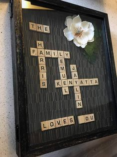 Mothers day gift ideas DIY projects for grandparents. This easy scrabble board can be made in under 30 minutes and kids can even help put it together. Fun craft for moms, grandmothers and mother in laws. Sentimental gifts for mom diy mothers day Sentimental Gifts For Mom, Diy Gifts For Mothers, Mothers Day Gifts From Daughter, Mother In Law Gifts, Gifts For Your Mom, Mothers Day Crafts, Gifts For Family, Gifts For Him, Diy Gifts To Mom