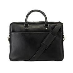 Black Metro Leather Soft Briefcase //   Leather Laptop Bag for men www.urbansafarilondon.com