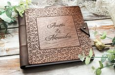 Hochzeit Gast Buch Holz Gast Buch Hochzeit Gästebuch Custom