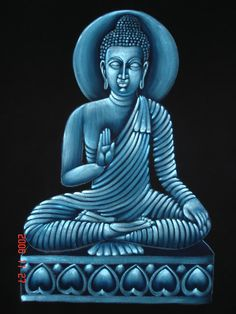 (SKU No.: Oil00905) Lord Buddha Painting, Krishna Mart India