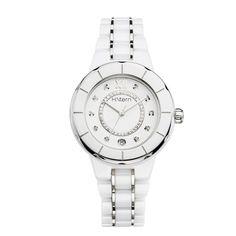 Relógio feminino de cerâmica branca e trilho de diamantes http://m.hstern.com.br/relogio/feminino/sports-luxury/RS9AC204240
