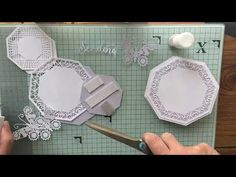 A simple way to make Easel Cards using pretty much any of Sue's outer edge dies. Doesn't have to be a regular shape such a square, hexagon, octagon. Card Making Tips, Card Making Techniques, Fun Fold Cards, Folded Cards, Sue Wilson Dies, Anna Griffin Cards, Shaped Cards, Easel Cards, Wedding Tattoos