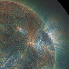 美しい…… NASAが公開した太陽のイメージ画像がまるで絵画 - ねとらぼ