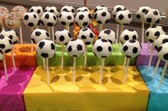 Soccer ball cake pops kissmycupcakeoz - click for more like this -