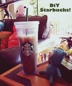 DiY Starbucks Cold by becksorange, via Flickr Keurig Recipes, Coffee Bar Home, Starbucks Coffee, Home Recipes, Diys, Cold, Tableware, Dinnerware, Starbox Coffee