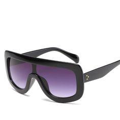 008c582502bc Fashion Big Frame Square Sunglasses Women Brand Designer Vintage Retro  Oversized Women Ladies Female Sunglass Oculos