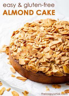 Drip Cake Recipes, Easy Baking Recipes, Easy Cake Recipes, Healthy Dessert Recipes, Easy Desserts, Delicious Desserts, Gluten Free Almond Cake, Best Gluten Free Desserts, Almond Cakes