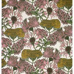 Hello Yarrow Wallpaper (Natural) | Abigail Borg | Surface Pattern Designer & Floral Illustrator | Traditional Surface Pattern Design