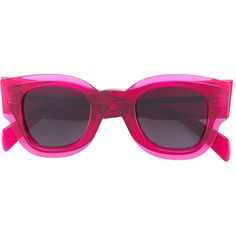 Céline Eyewear thick frame sunglasses ($380) ❤ liked on Polyvore featuring accessories, eyewear, sunglasses, pink, pink glasses, acetate glasses, celine eyewear, thick glasses and pink sunglasses