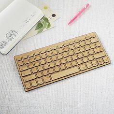 Wireless Bamboo Keyboard #westelm
