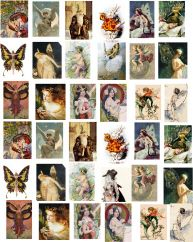 Decoupage Paper and Collage Sheets, Original Tissue, Mini Images