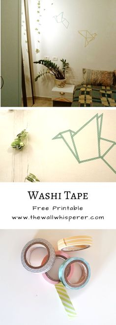 Free printable!  Amazingly simple wall art tutorial with washi tape.